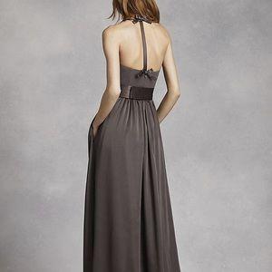 Vera Wang Dresses - Vera wang v neck halter bridesmaid dress